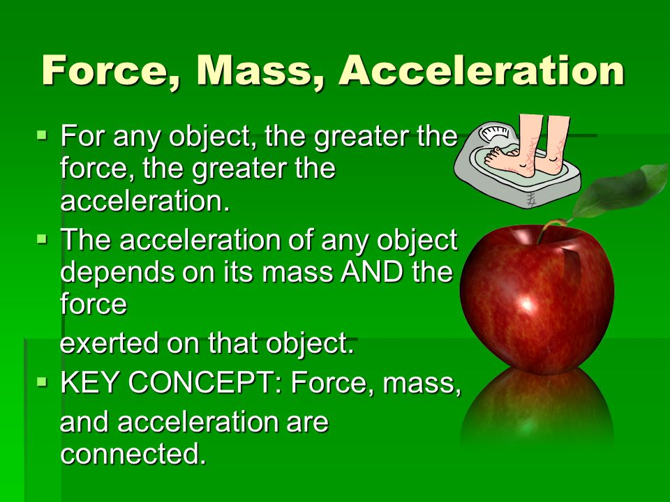 Force, Mass, Acceleration