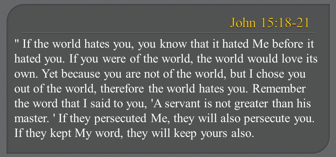 John 15:18-21