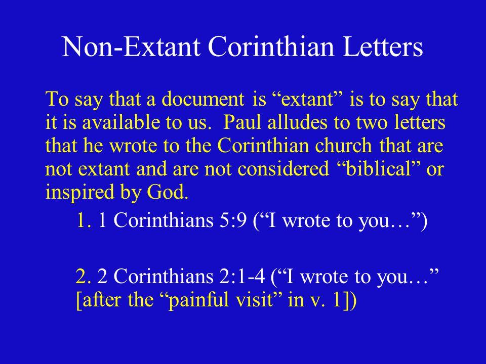 Non-Extant Corinthian Letters