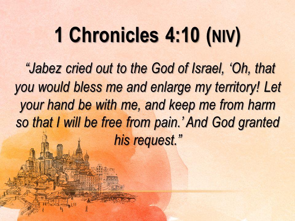 1 Chronicles 4:10 (niv)