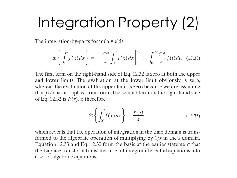 Integration Property (2)