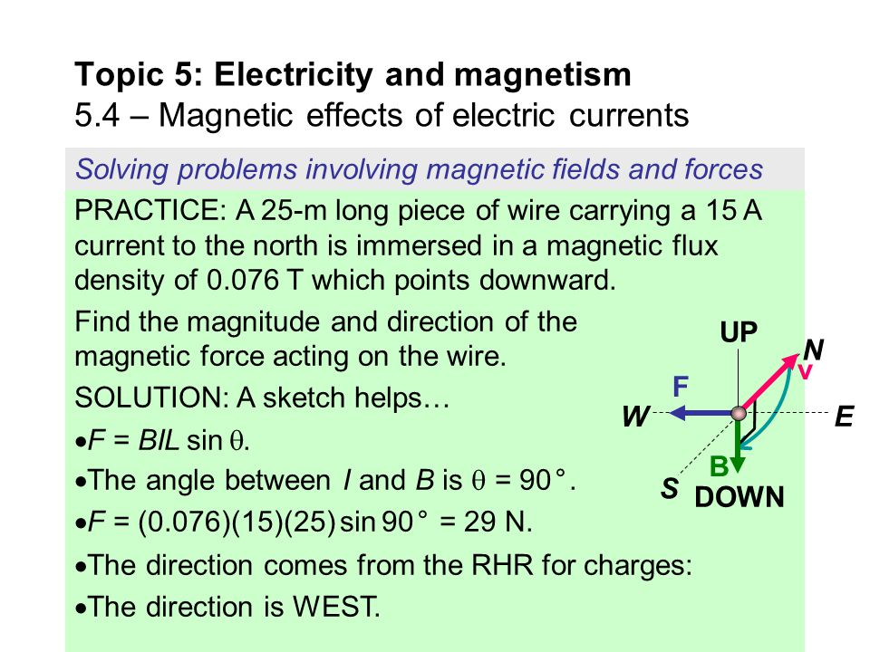 Topic 5: Electricity and magnetism 5