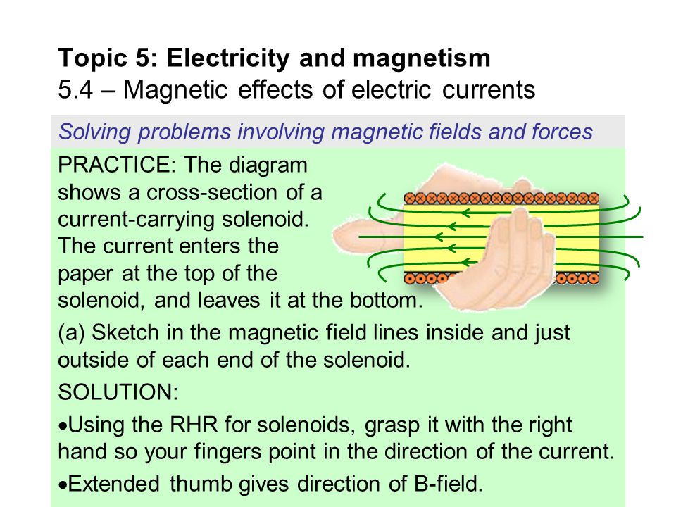 Topic+5%3A+Electricity+and+magnetism+5 topic 5 electricity and magnetism 5 ppt download the diagram shows the cross section of a wire carrying conventional positive current into the plane at bakdesigns.co