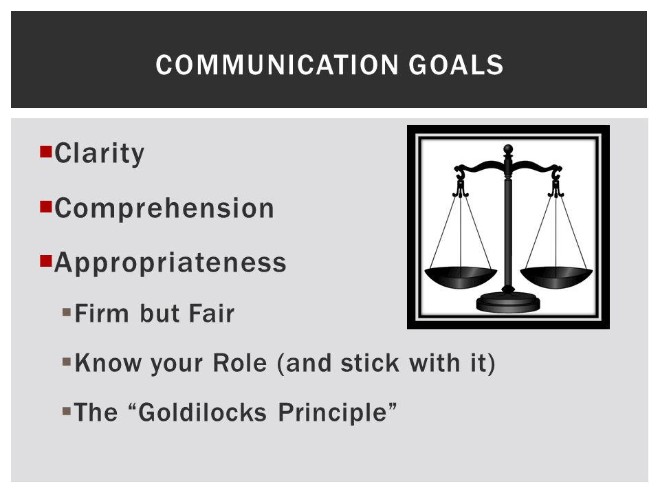 Clarity Comprehension Appropriateness Communication Goals