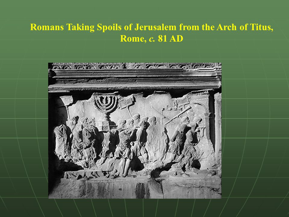 Romans Taking Spoils of Jerusalem from the Arch of Titus, Rome, c
