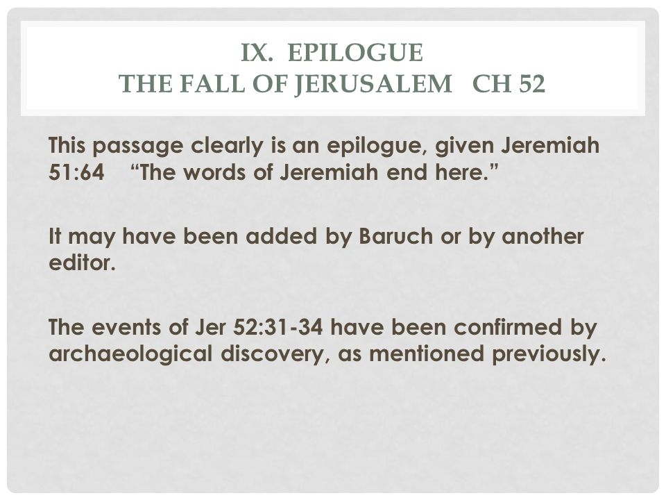 ix. Epilogue the fall of jerusalem ch 52