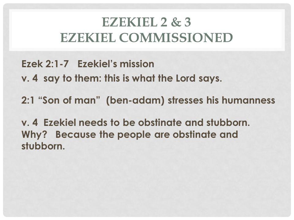 Ezekiel 2 & 3 Ezekiel Commissioned