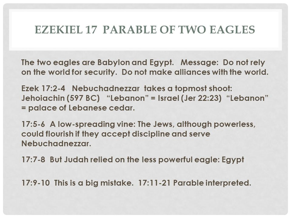 Ezekiel 17 Parable of two eagles