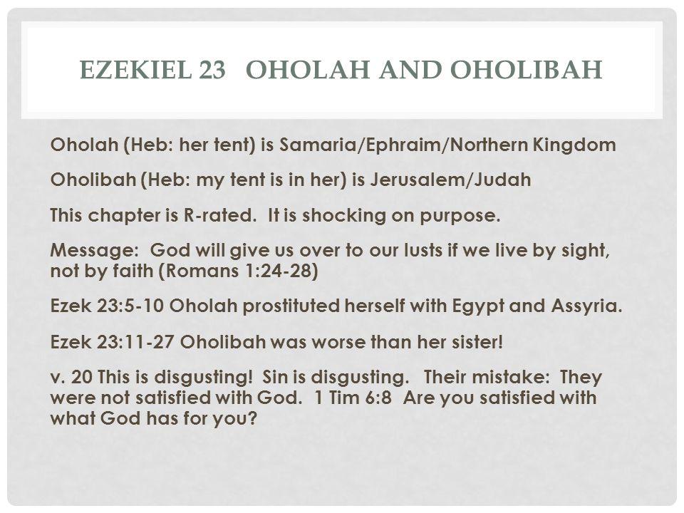Ezekiel 23 Oholah and oholibah