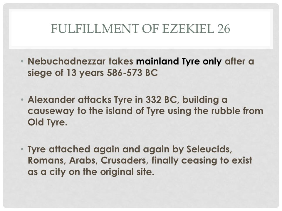 Fulfillment of Ezekiel 26