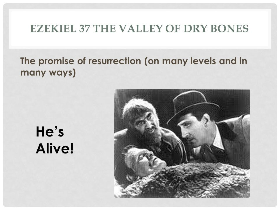 Ezekiel 37 the valley of dry bones