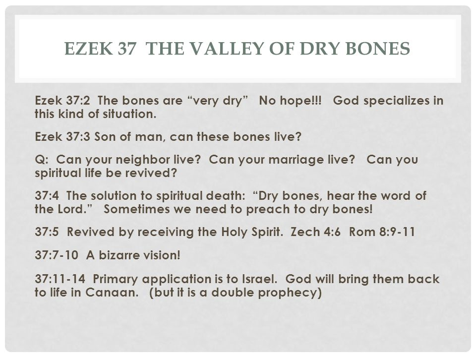 Ezek 37 The valley of dry bones
