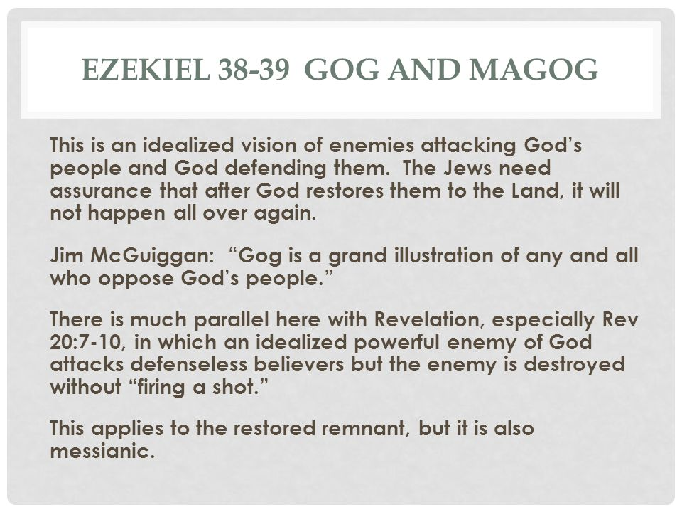 Ezekiel 38-39 gog and magog