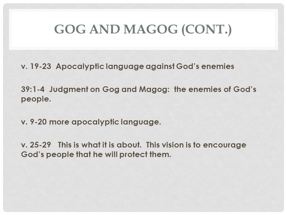 Gog and magog (cont.)