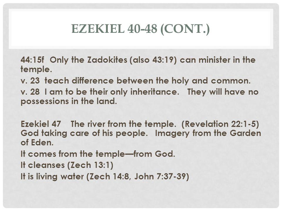 Ezekiel 40-48 (cont.)