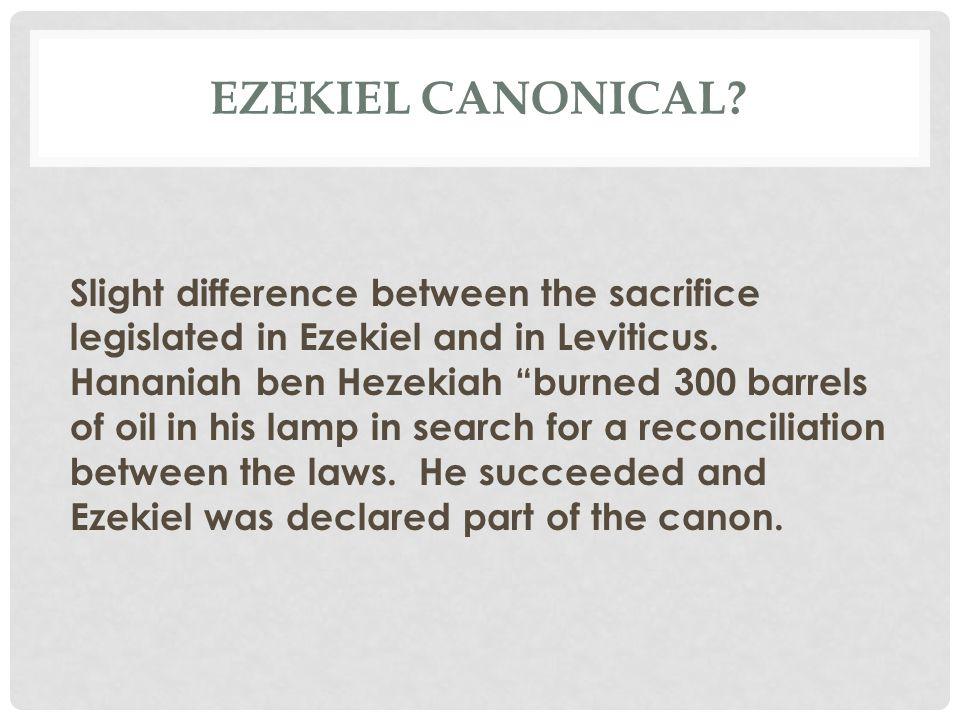 Ezekiel Canonical