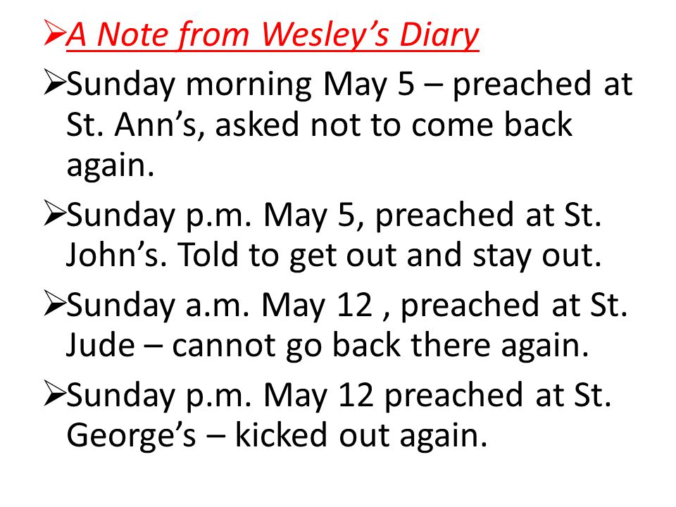 A Note from Wesley's Diary