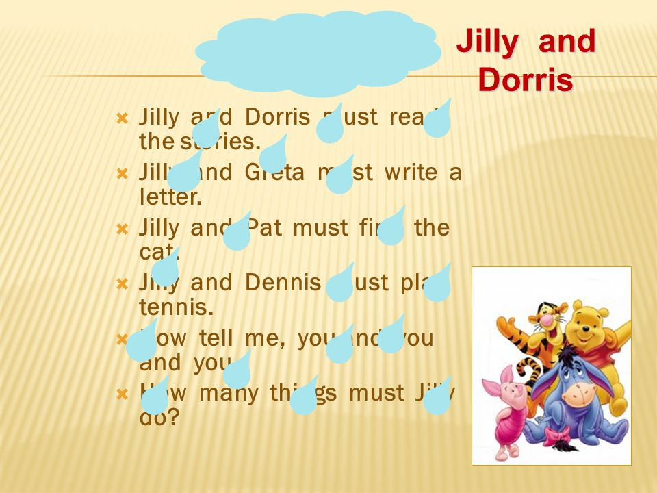 Jilly and Dorris Jilly and Dorris must read the stories.
