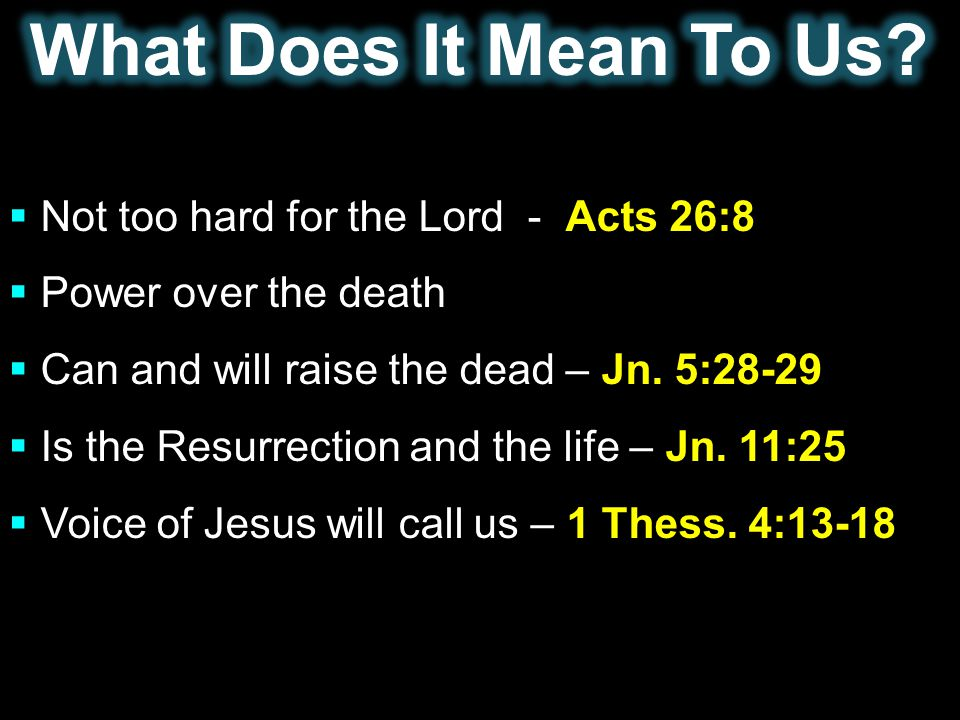 What Does It Mean To Us Not too hard for the Lord - Acts 26:8
