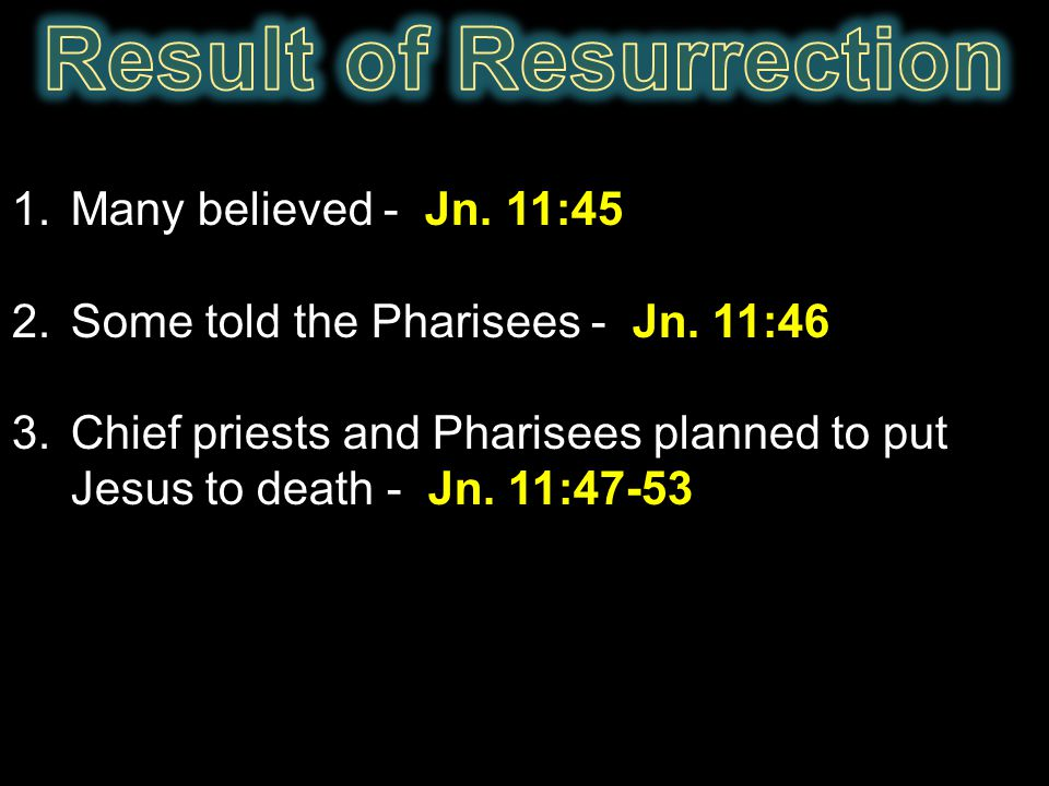 Result of Resurrection
