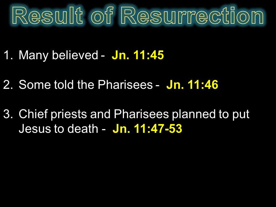 Result of Resurrection