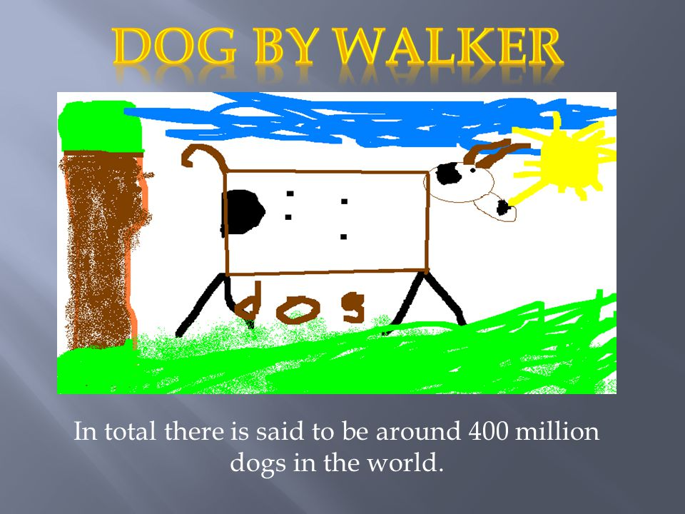 In total there is said to be around 400 million dogs in the world.