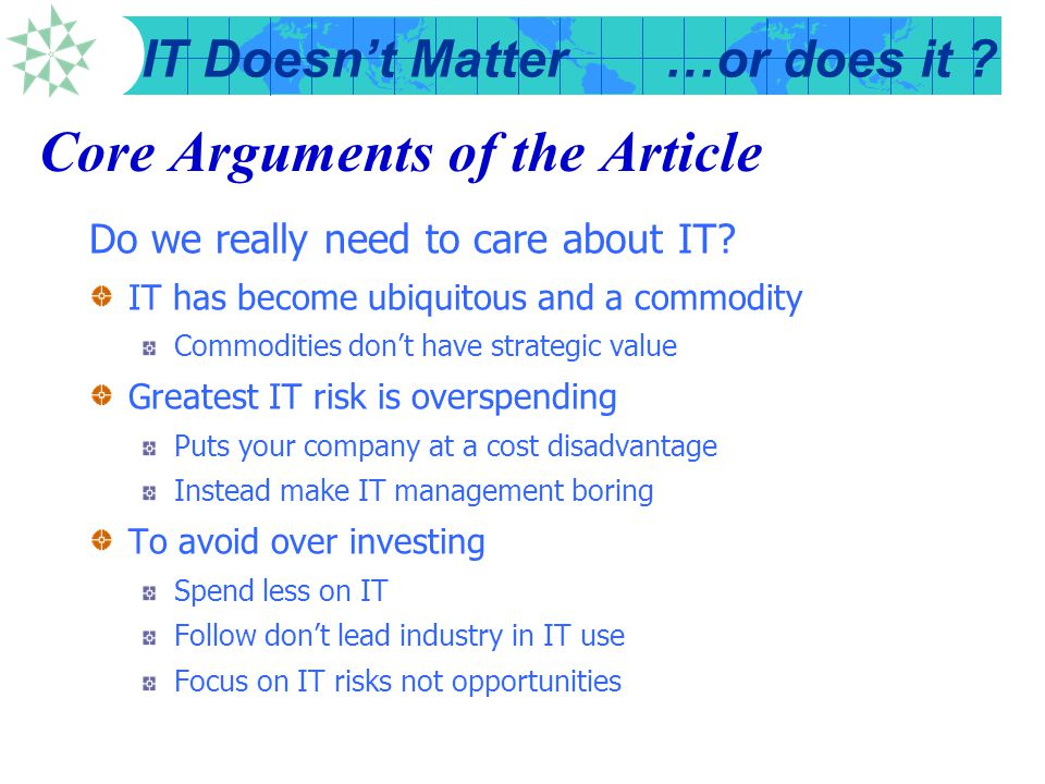 Core Arguments of the Article