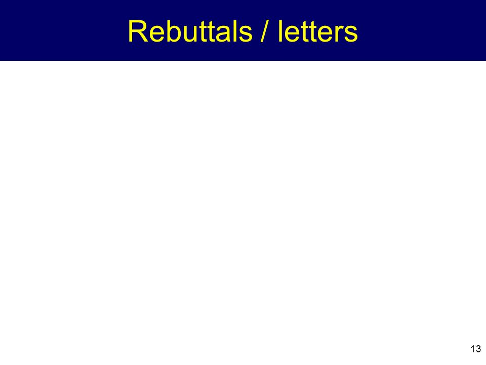 Rebuttals / letters
