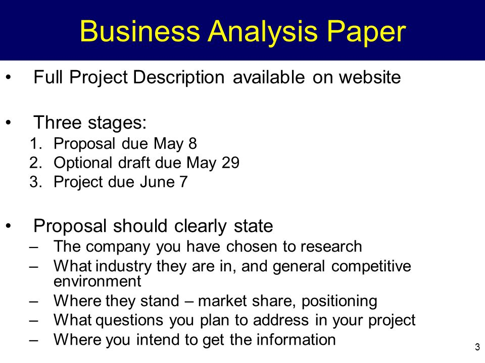 Business Analysis Paper