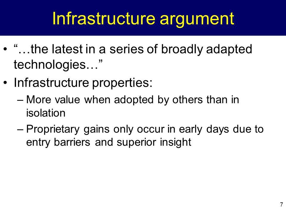 Infrastructure argument