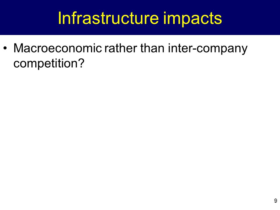 Infrastructure impacts
