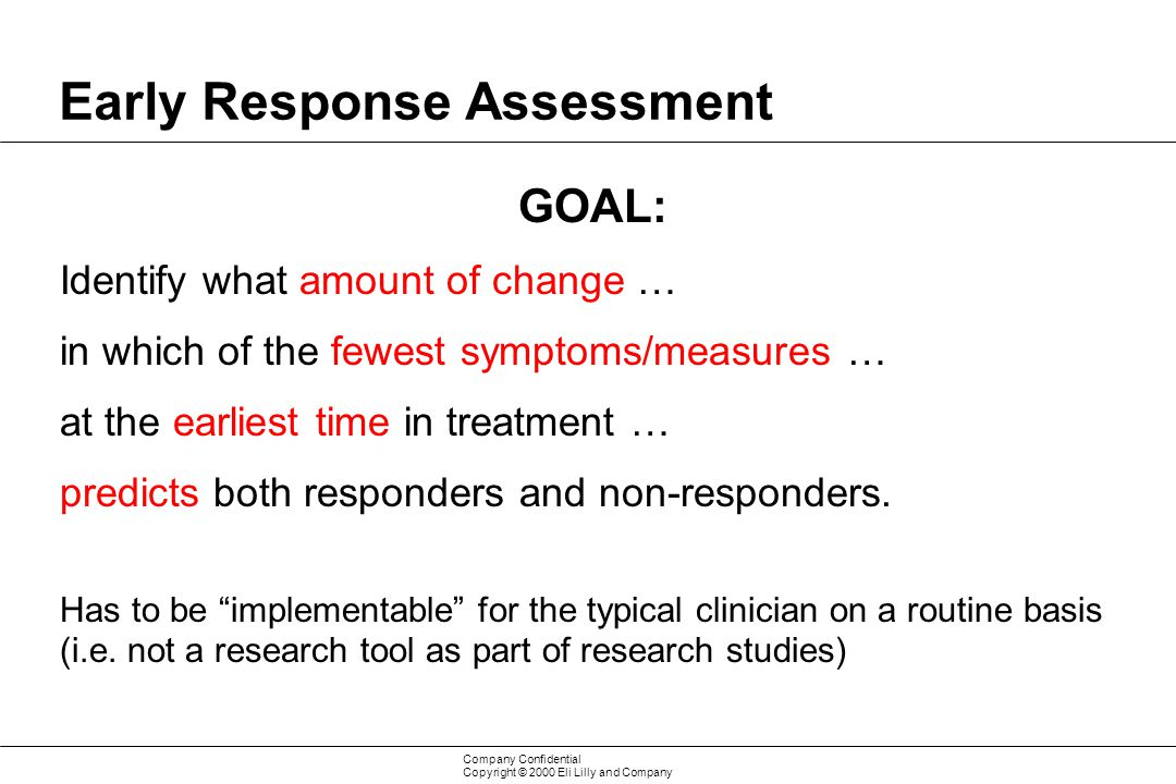 Early Response Assessment