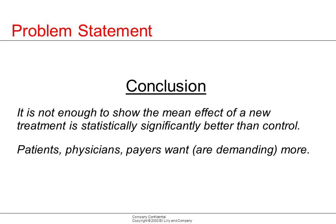 Problem Statement Conclusion