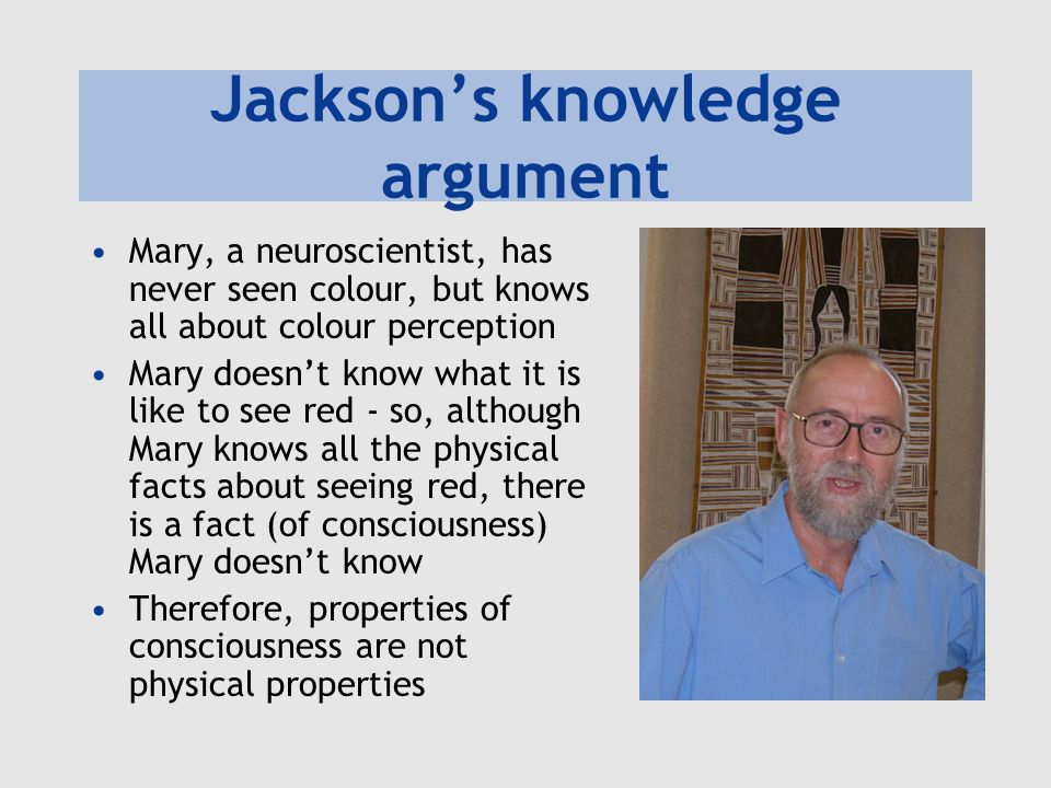 Jackson's knowledge argument