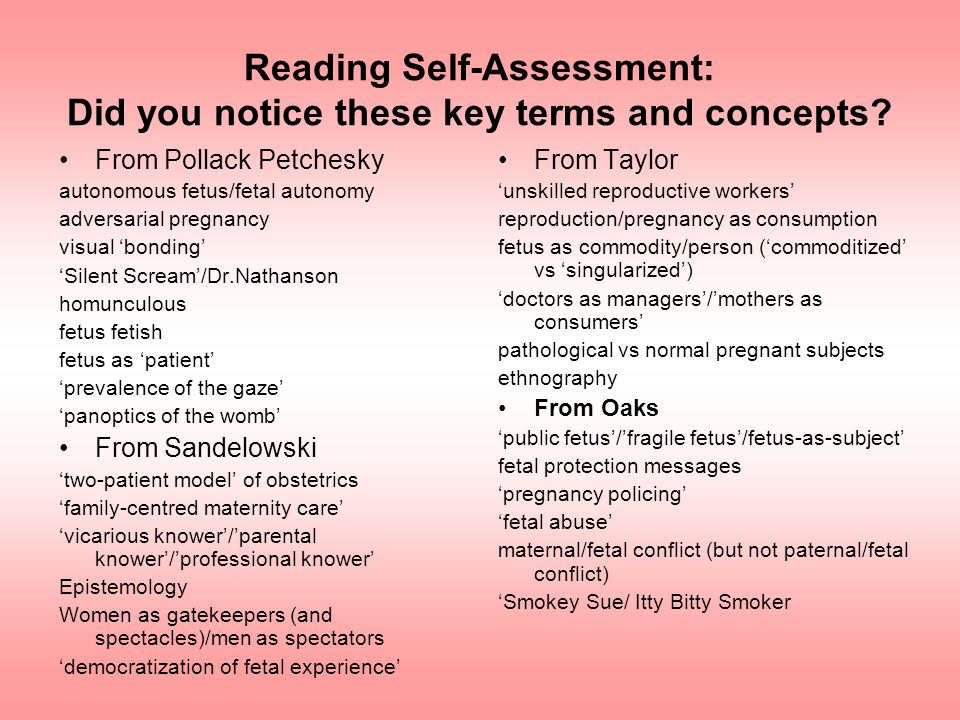 Reading Self-Assessment: Did you notice these key terms and concepts