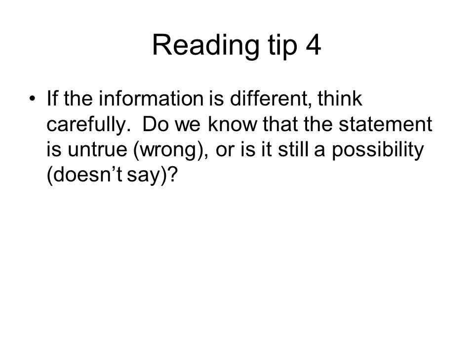 Reading tip 4