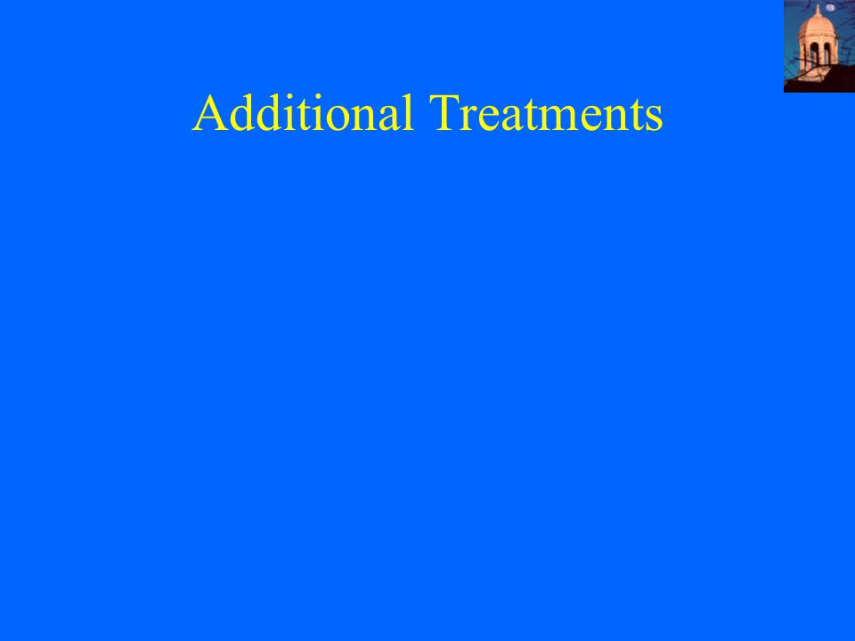 Additional Treatments