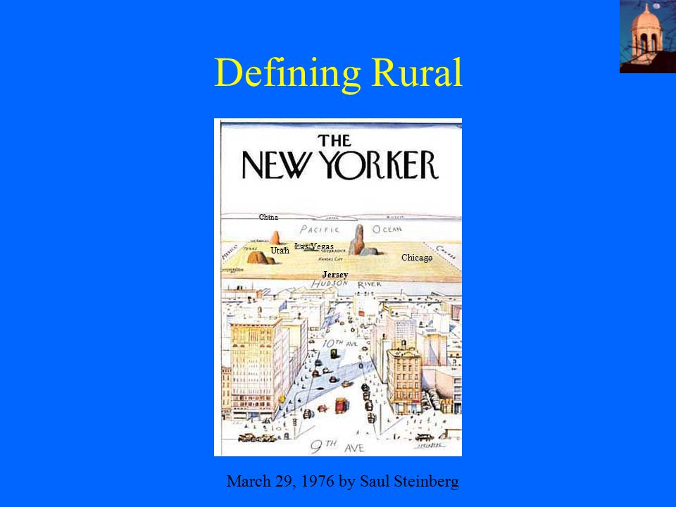 Defining Rural March 29, 1976 by Saul Steinberg