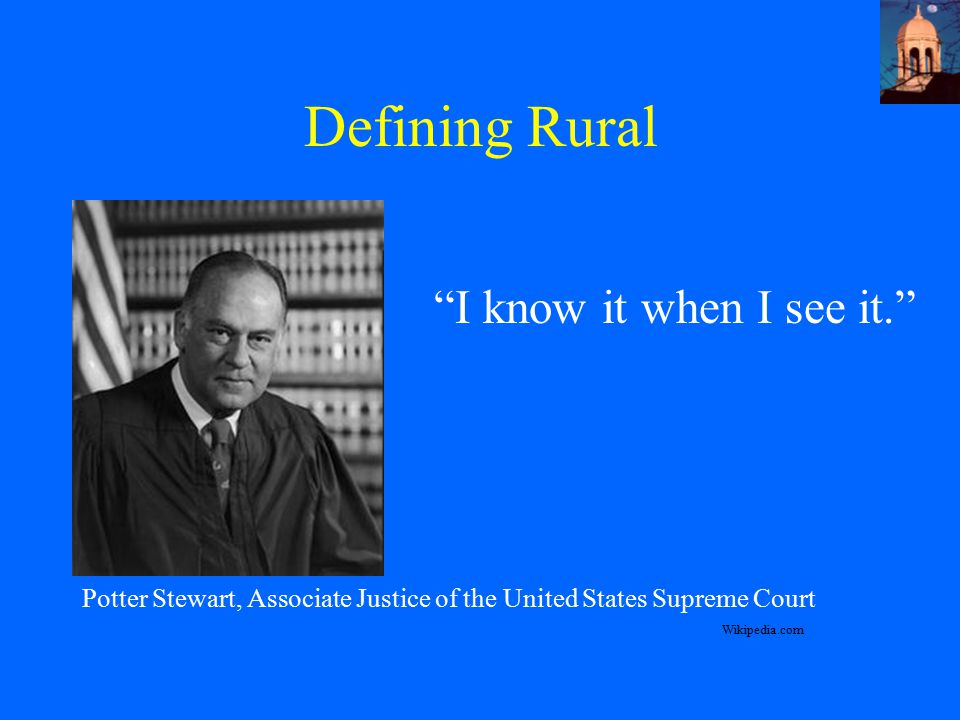 Defining Rural I know it when I see it.