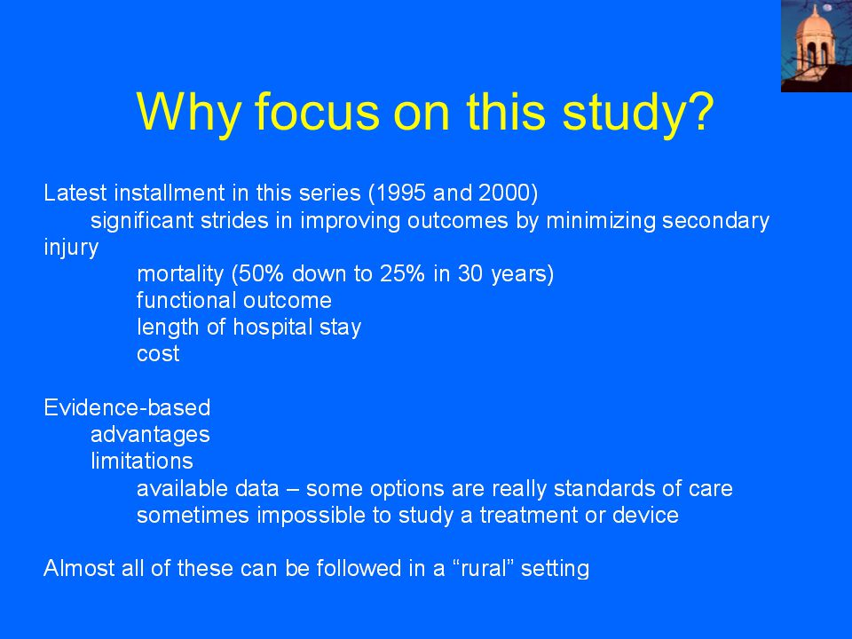 Why focus on this study