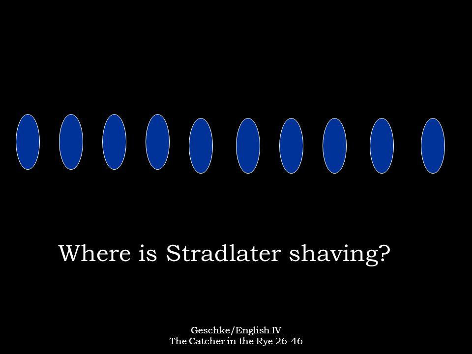 Where is Stradlater shaving