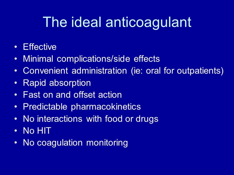 The ideal anticoagulant