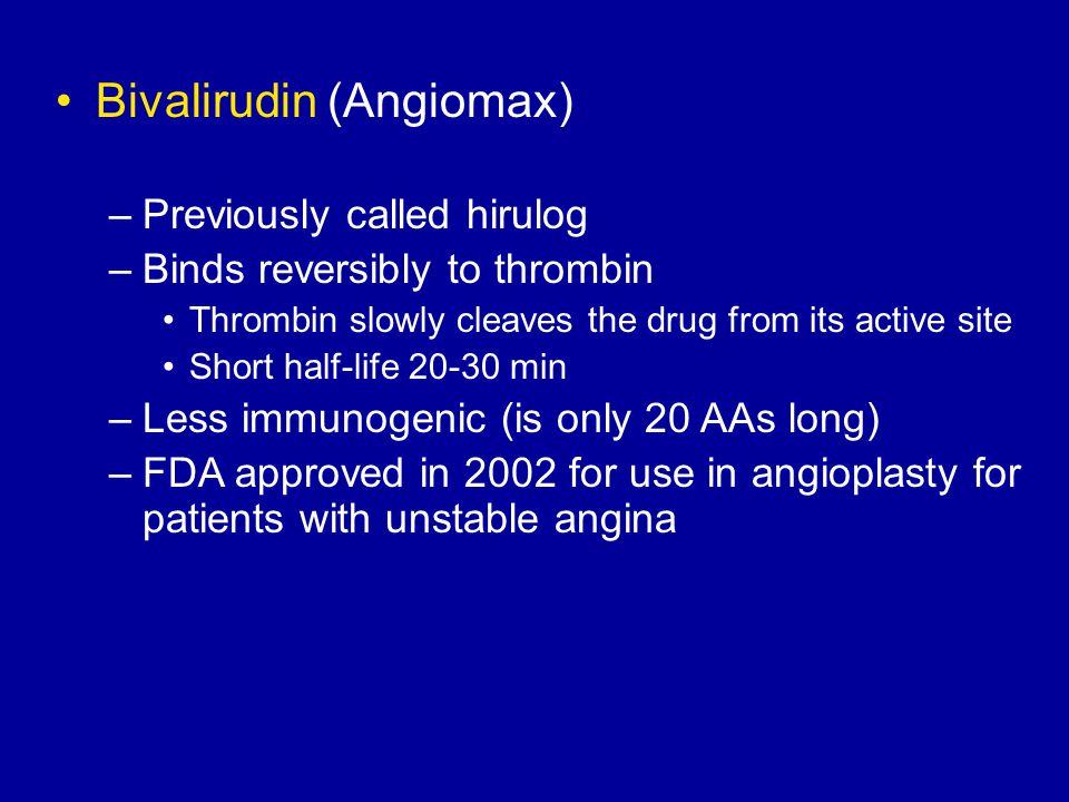 Bivalirudin (Angiomax)