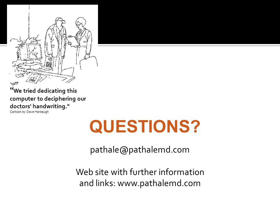 Web site with further information and links: www.pathalemd.com