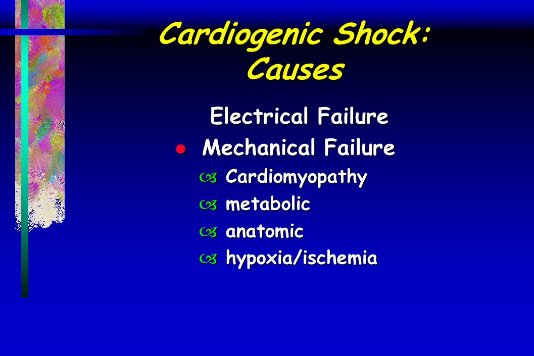 Cardiogenic Shock: Causes