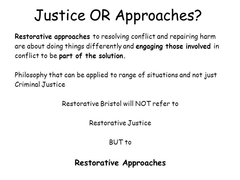Restorative Approaches
