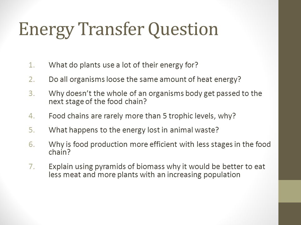 Energy Transfer Question