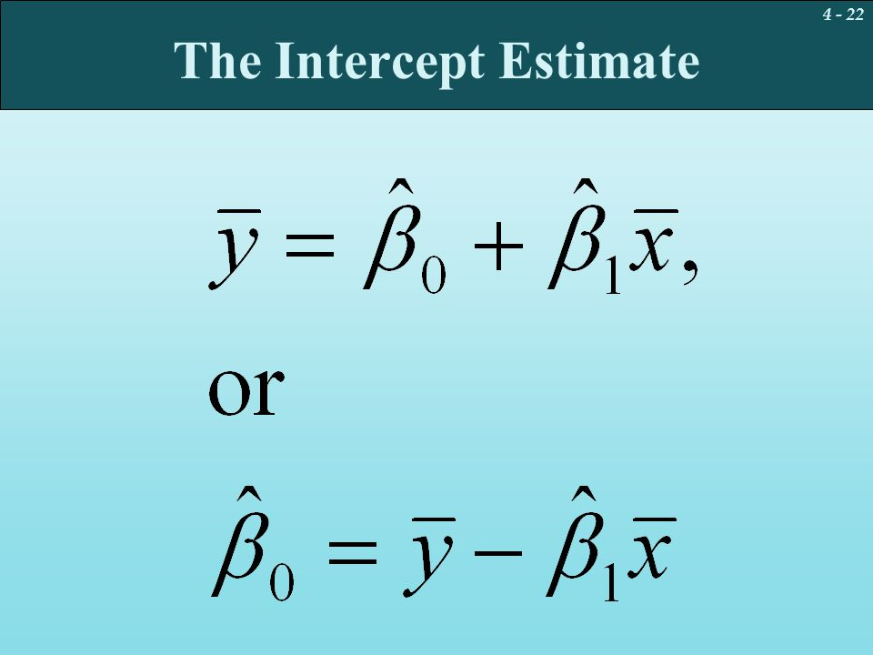The Intercept Estimate