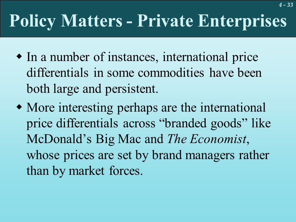 Policy Matters - Private Enterprises