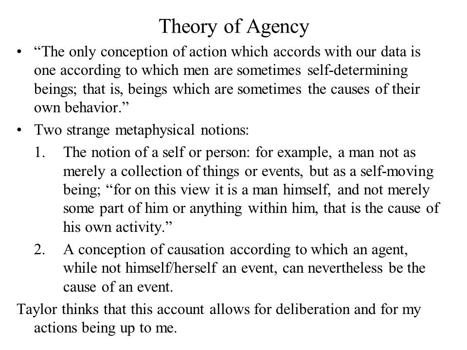 Theory of Agency